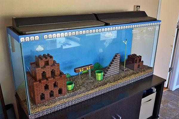 Super Mario akvárium Legóból!